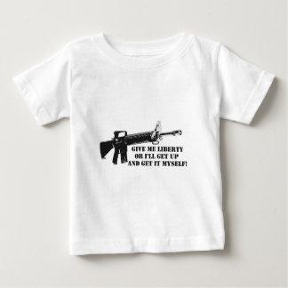 Donnez-moi la liberté A.png T-shirt Pour Bébé