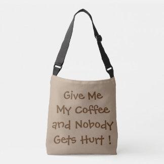 Donnez-moi mon sac mortuaire à croix de café