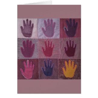 Donnez un édredon de main carte de vœux