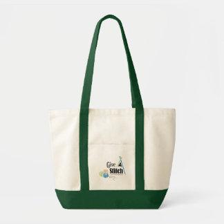 Donnez un sac fourre-tout à accent de vert de poin