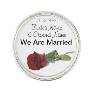 Dons de souvenirs de souvenirs de mariage de rose pin's