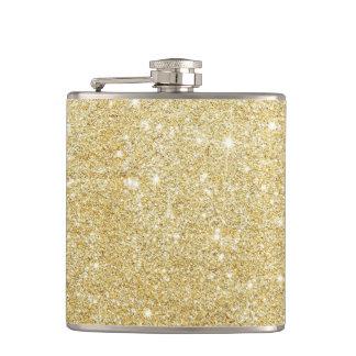D'or de luxe brillant de scintillement flasques