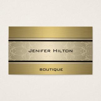 D'or de luxe moderne élégant professionnel cartes de visite