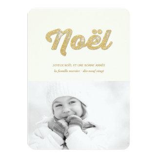 D'or de photo de carte de Mousseux Paillettes Carton D'invitation 11,43 Cm X 15,87 Cm