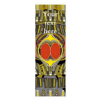 D'or d'orange conception superfly carte de visite petit format