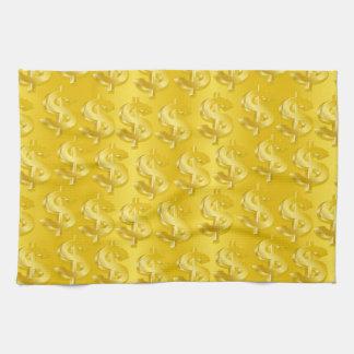 $ d'or $ serviette pour les mains