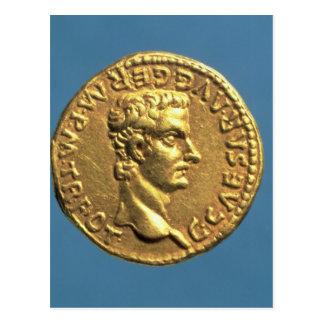 Doré de Caligula nu-tête Cartes Postales