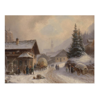 Dorfstr vintage Allemagne en hiver