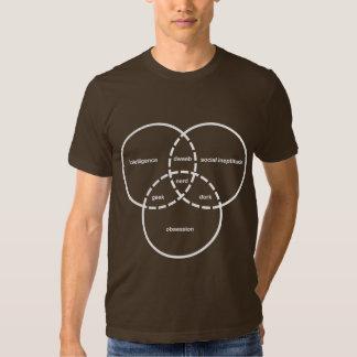 dork nerd de crétin de geek de diagramme de venn t-shirt