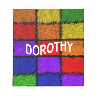 DOROTHY BLOC-NOTE