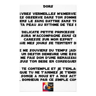 DORS - Poème - Francois Ville Papeterie