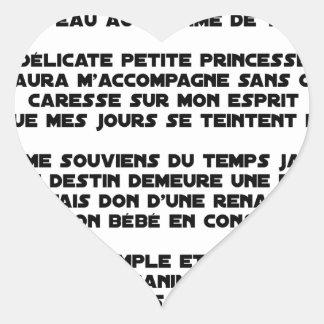 DORS - Poème - Francois Ville Sticker Cœur