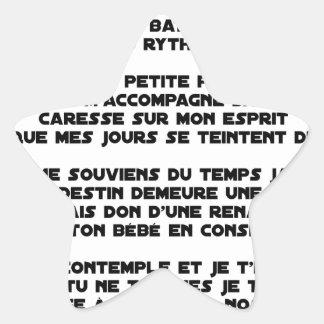 DORS - Poème - Francois Ville Sticker Étoile