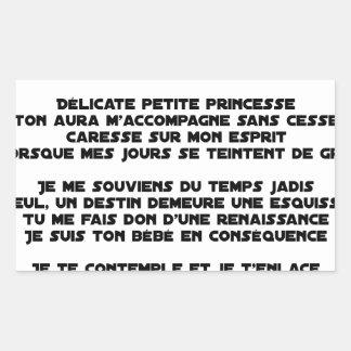 DORS - Poème - Francois Ville Sticker Rectangulaire