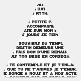 DORS - Poème - Francois Ville Sticker Triangulaire