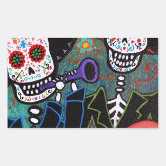 DOS Amigos Dia de los Muertos Sticker Rectangulaire