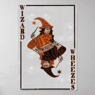 Dos de la carte de Weasleys Poster