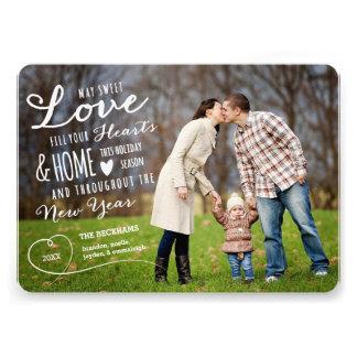 Dos doux de carte photo noir de vacances d amour invitations personnalisées