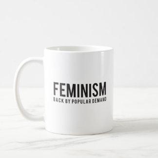 Dos du féminisme par une demande populaire mug