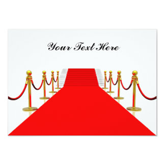 Dos personnalisable de blanc de tapis rouge bristols