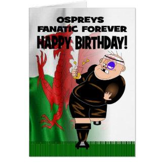 D'Ospreys de fanatique carte d'anniversaire pour