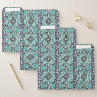 Dossier Tuile bleue II de batik