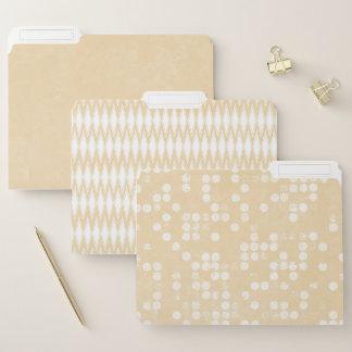 Dossiers beiges brumeux modernes