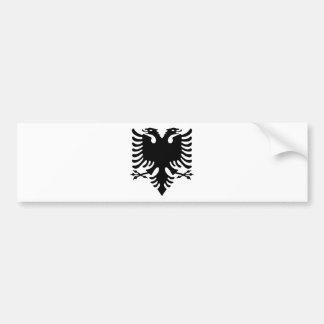 Double aigle dirigé albanais autocollant pour voiture