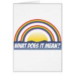 Double arc-en-ciel ce qui il signifie ? cartes de vœux