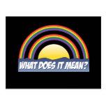 Double arc-en-ciel ce qui il signifie ? carte postale