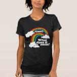 Double arc-en-ciel d'OMG ce qui il signifie T-shirt