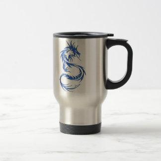 Double bleu de dragon mug de voyage