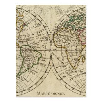 Double carte d'hémisphère