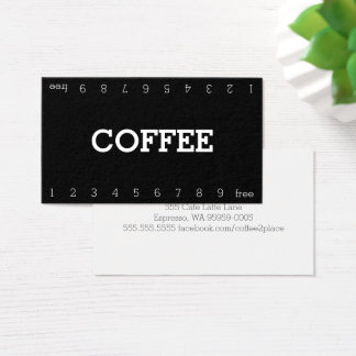 Double carte perforée simple de café de fidélité