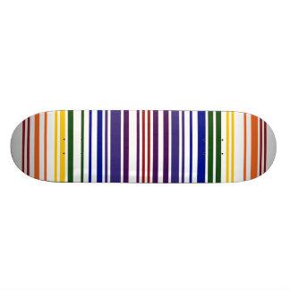 Double code barres d'arc-en-ciel mini skateboard 18,4 cm