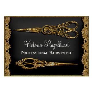 Double coiffeur pur de ciseaux de Hazelhurst Carte De Visite Grand Format
