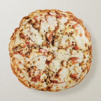 Double coussin rond de pizza de fromage