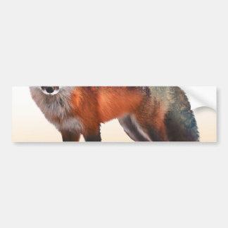 Double exposition de Fox - art de renard - renard Autocollant Pour Voiture