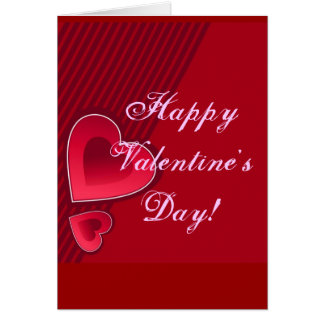 Double heureuse Sainte-Valentin de coeurs dans le  Cartes De Vœux
