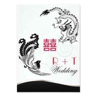 Double invitation de mariage de bonheur de