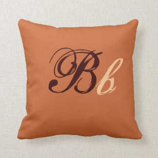 Double monogramme de B en Brown et beige I Oreillers