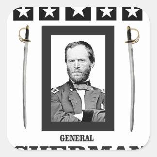 double onde entretenue de Sherman de lame Sticker Carré
