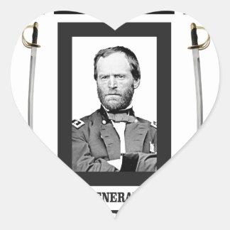 double onde entretenue de Sherman de lame Sticker Cœur
