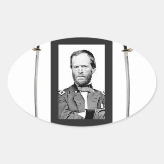double onde entretenue de Sherman de lame Sticker Ovale