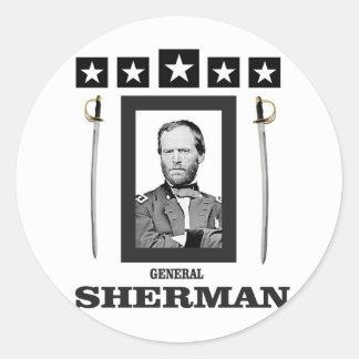double onde entretenue de Sherman de lame Sticker Rond