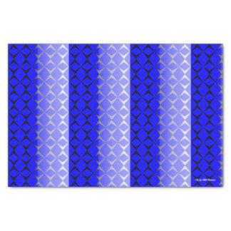 Double papier de soie de soie de diamant (bleu et