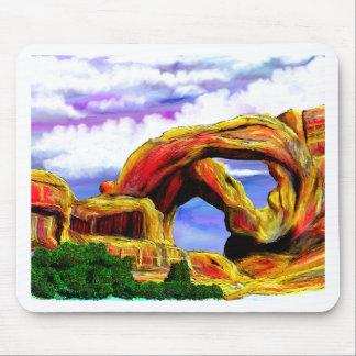 Double peinture de paysage de voûte tapis de souris