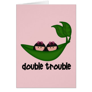 Double problème Peapod de filles jumelles Cartes