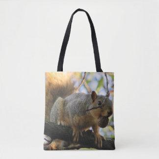 Double sac fourre-tout dégrossi mignon à écureuil