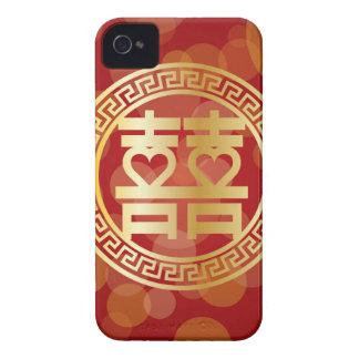 Double symbole de mariage de bonheur avec des coques iPhone 4 Case-Mate